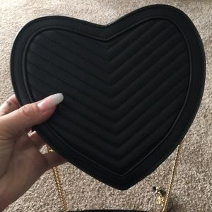 Never been used cute heart purse